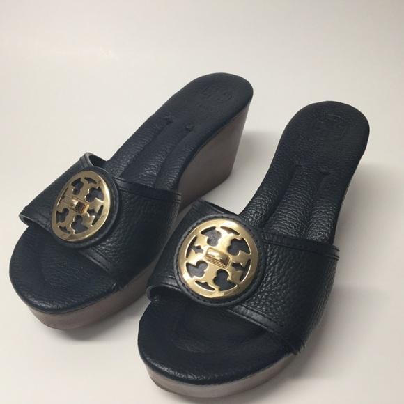 Tory Burch Wedge Sandals. US 7 1/2